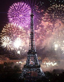 Fireworks stunned at the Eiffel Tower over the weekend.