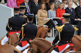 French first lady Valérie Trierweiler watched the Bastille Day Military Ceremony.