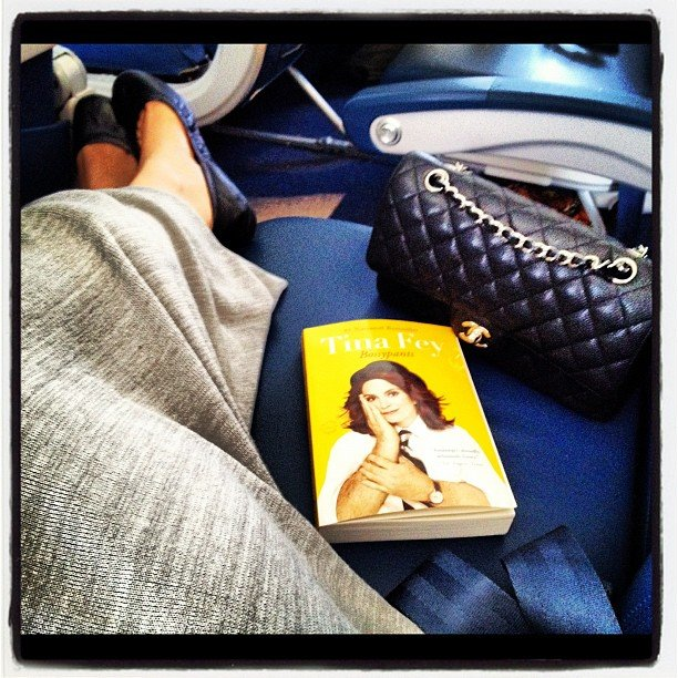 Nikkisoda had Tina Fey's Bossypants by her side for her plane ride.