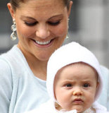 Crown Princess Victoria looked happy with her daughter on her 35th birthday.