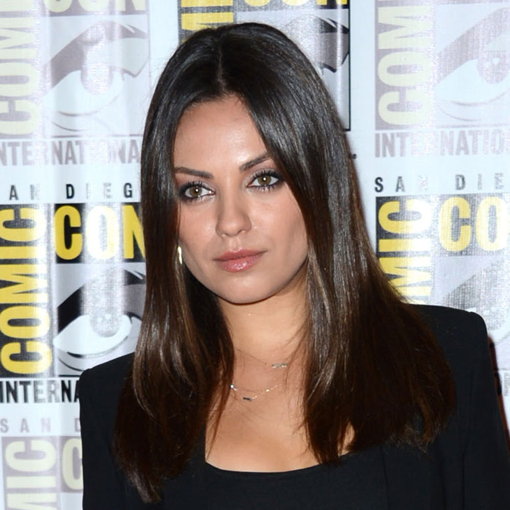 Ah, Mila Kunis and her glossy brown hair. We loved her natural, effotless look.