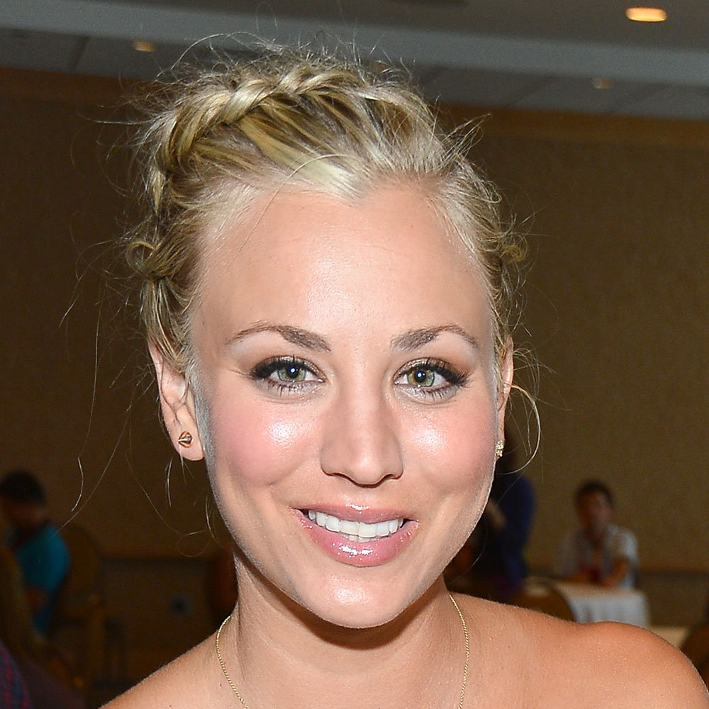 Kaley Cuoco rocked a cool braid and metallic eyes. An edgy look for the Big Bang Theory star.