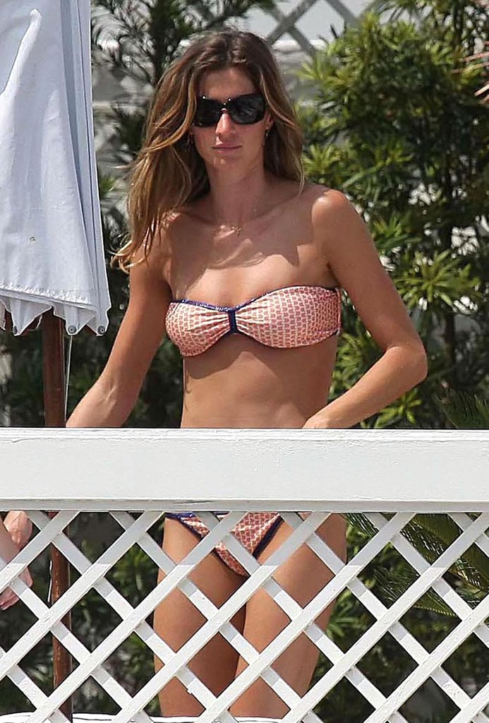 Gisele enjoyed the sun in a bikini while hanging with pals in Brazil in February 2009.