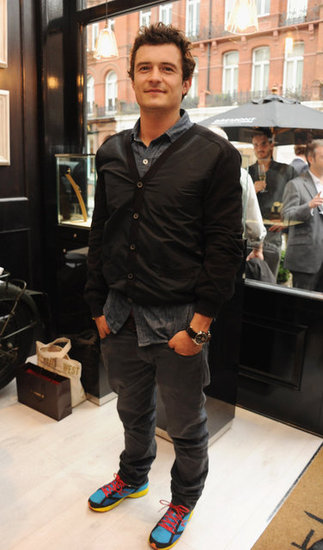 Orlando Bloom arrived at the Bremont Boutique launch.