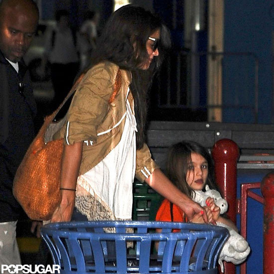 Katie Holmes and Suri Cruise Fit In a Late Gymnastics Class