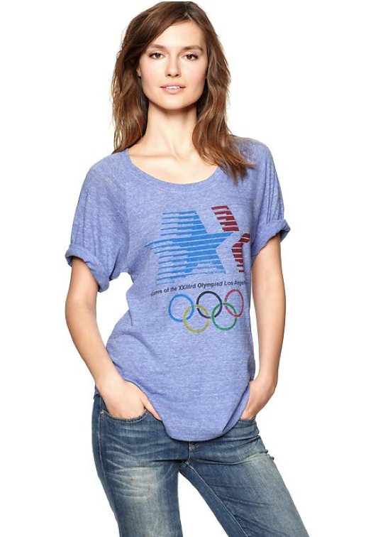 Just in time for the Olympic Games in London, wear your Team USA pride on your sleeve with this vintage rendition. Then, tuck it into high-waisted denim cutoffs and don high-top Chucks for the full off-duty effect. Gap Exclusive Olympic Vintage T-Shirt ($30)