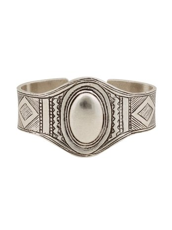 Channel the Southwest-cool vibe, even if it's just to add dimension to your favorite tank top.  Low Luv by Erin Wasson Afghani Engraved Cuff ($95)