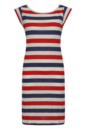 Get in on Summer's Americana-themed dressing with a no-muss, no-fuss t-shirt dress.  French Connection Jack Slub Tee Dress ($98)