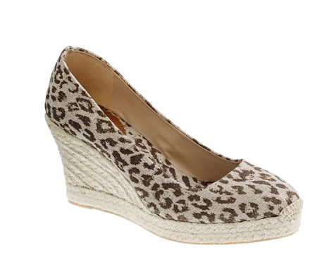 An espadrille with a bold leopard print means your footwear does the legwork for you (as far as style is concerned).  J.Crew Seville Printed Wedge Espadrilles ($50, originally $128)