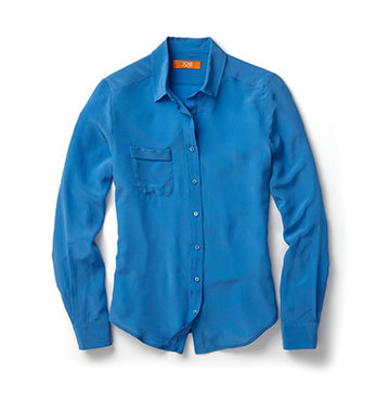 This silk shirt is still light and airy, and since it's under $40, you won't feel guilty if you get it a bit sweaty.  Joe Fresh Silk Shirt ($39)