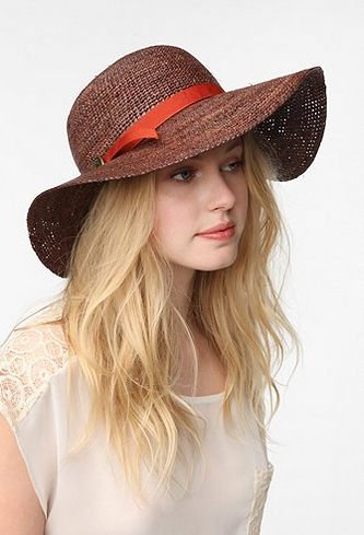 This is certainly the chicest way to shield the sun.  Brixton Alana Sun Hat ($68)