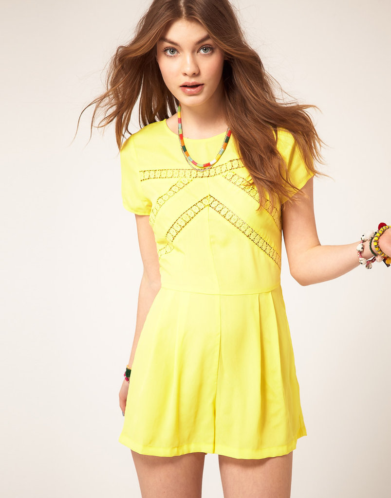 This sunny romper has summertime written all over it, from the breeze-inducing cutouts to the fresh, yellow hue.  ASOS Playsuit With Lace Insert ($58)