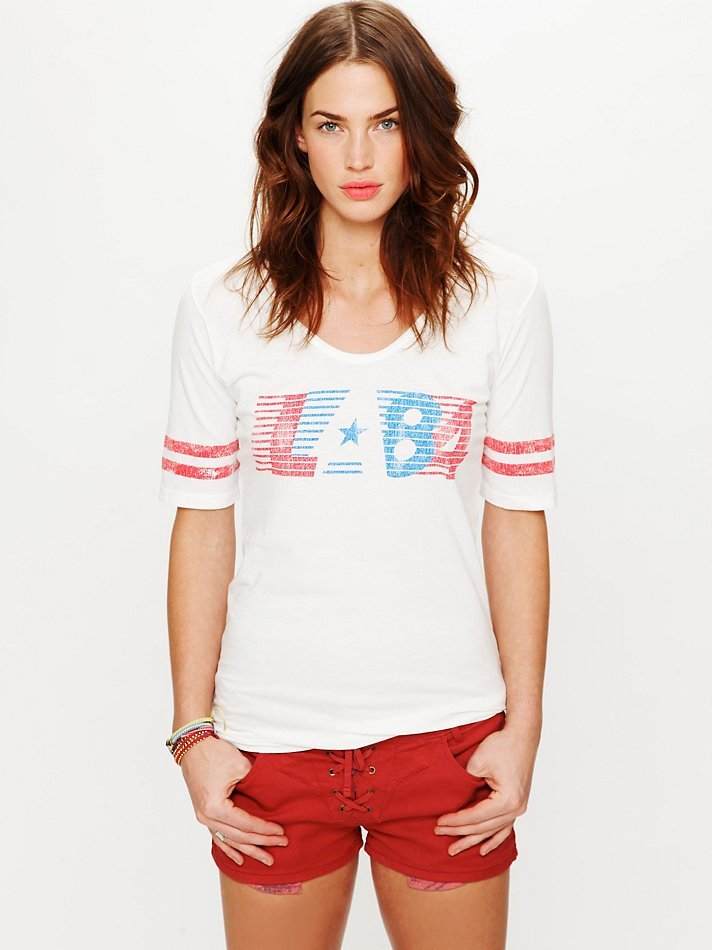 A classic-meets-sporty take on the worn-in tee trend.  Retro Brand LA 84 Athletic Tee ($68)