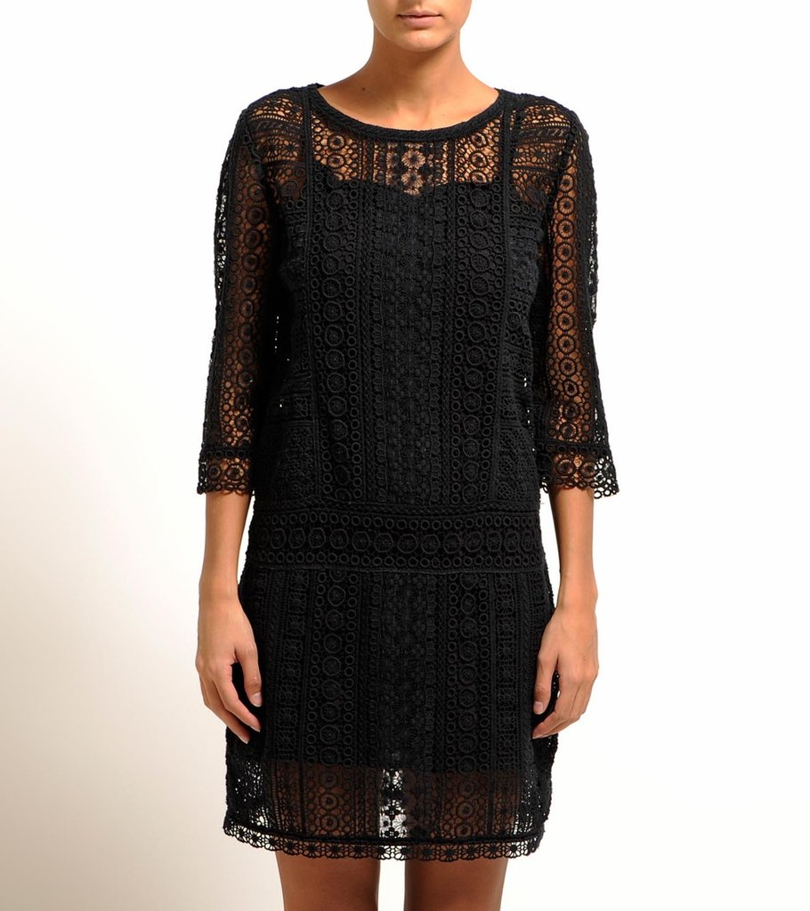 This cool LBD has macrame detailing for a fun bohemian touch.  Maje Lys Dress ($229, originally $610)