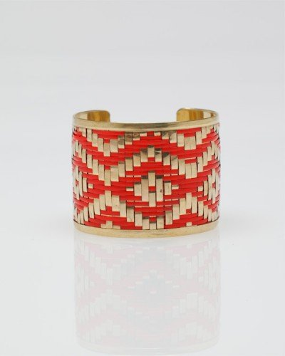 Liven up your look in one easy step: just slip this on your wrist.  Need Supply Co. Ikat Cuff Bracelet ($16)