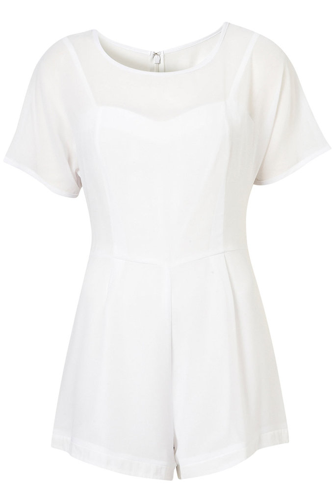 Take the guesswork out of getting dressed with a romper that's as functional as it is chic in summery white.  Topshop Chiffon T-Shirt Playsuit ($84)