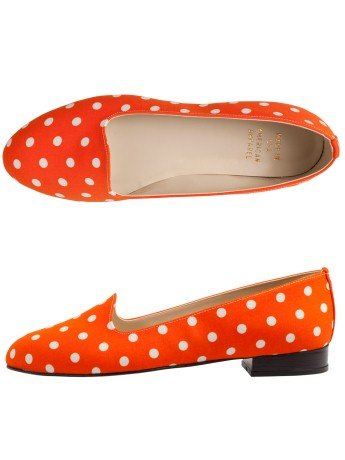 Shoes that you can just slip into and that are covered in polka dots? Yes, please.  American Apparel Polka Dot Loafer ($95)