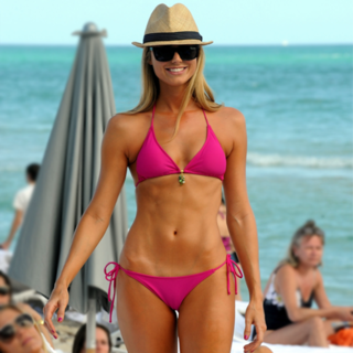 Stacy Keibler Ab Bikini Workout | Video