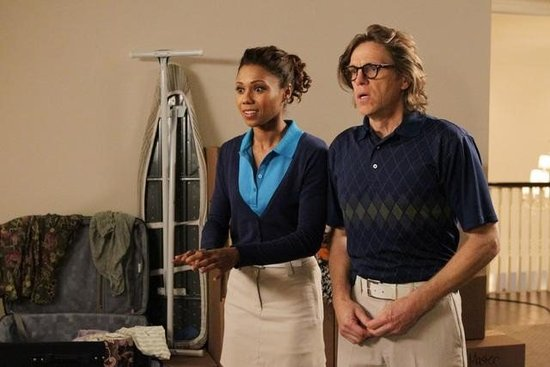 Toks Olagundoye and Simon Templeman on The Neighbors. Photo copyright 2012 ABC, Inc.