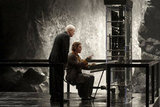 Michael Caine and Christian Bale in The Dark Knight Rises.  Photo courtesy of Warner Bros.