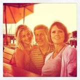 Julianne Hough had a birthday dinner with her parents. Source: Instagram user juleshough