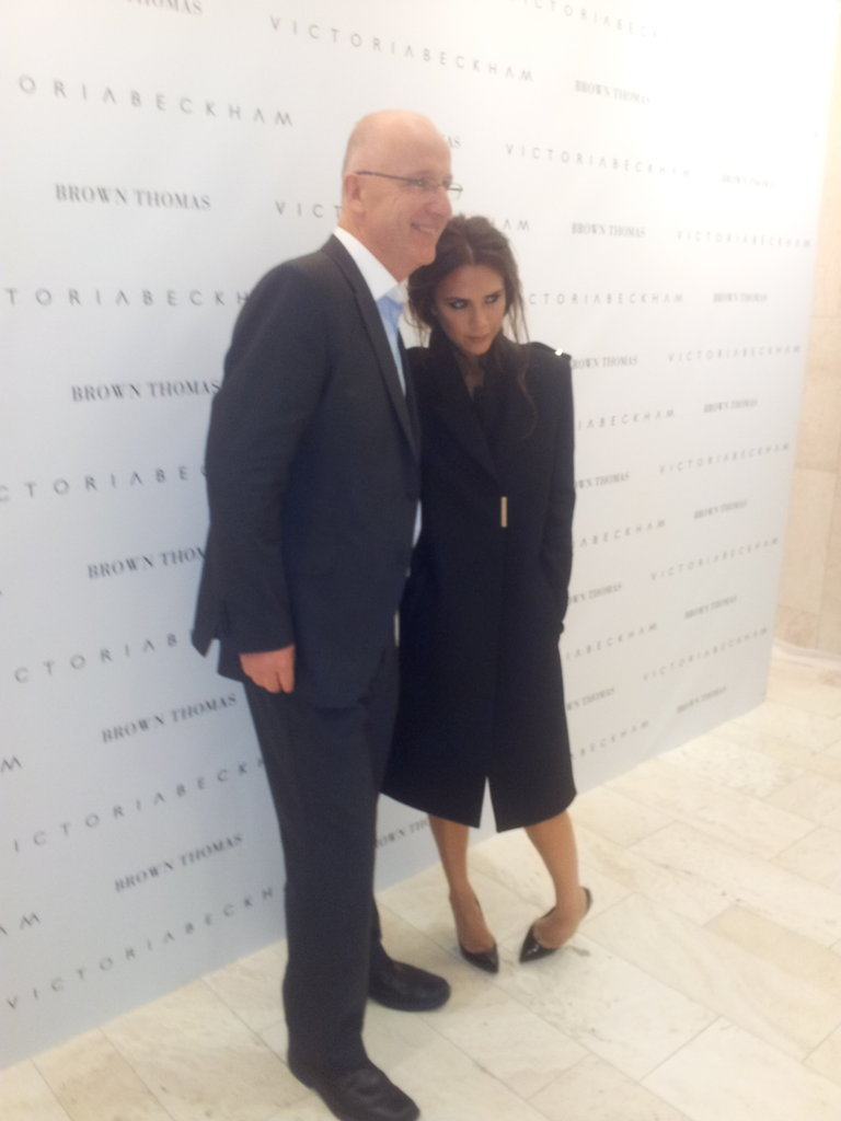 Victoria Beckham posed with someone from Victoria Beckham. Source: Twitter user BrownThomas