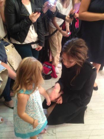 Victoria Beckham made the rounds at Brown Thomas. Source: Twitter user victoriabeckham