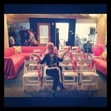 Pink showed off her very pink lounge. Source: Instagram user pink