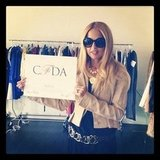 Rachel Zoe showed off her official CFDA certificate. Source: Instagram user rachelzoe