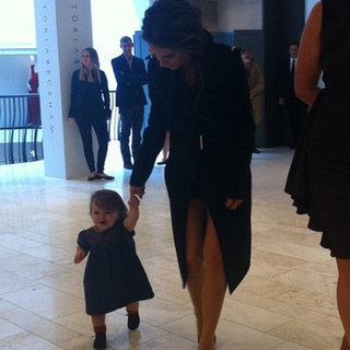 Harper Beckham Walking Pictures With Victoria