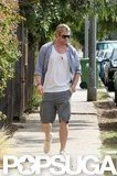 Chris Hemsworth walked down the street.