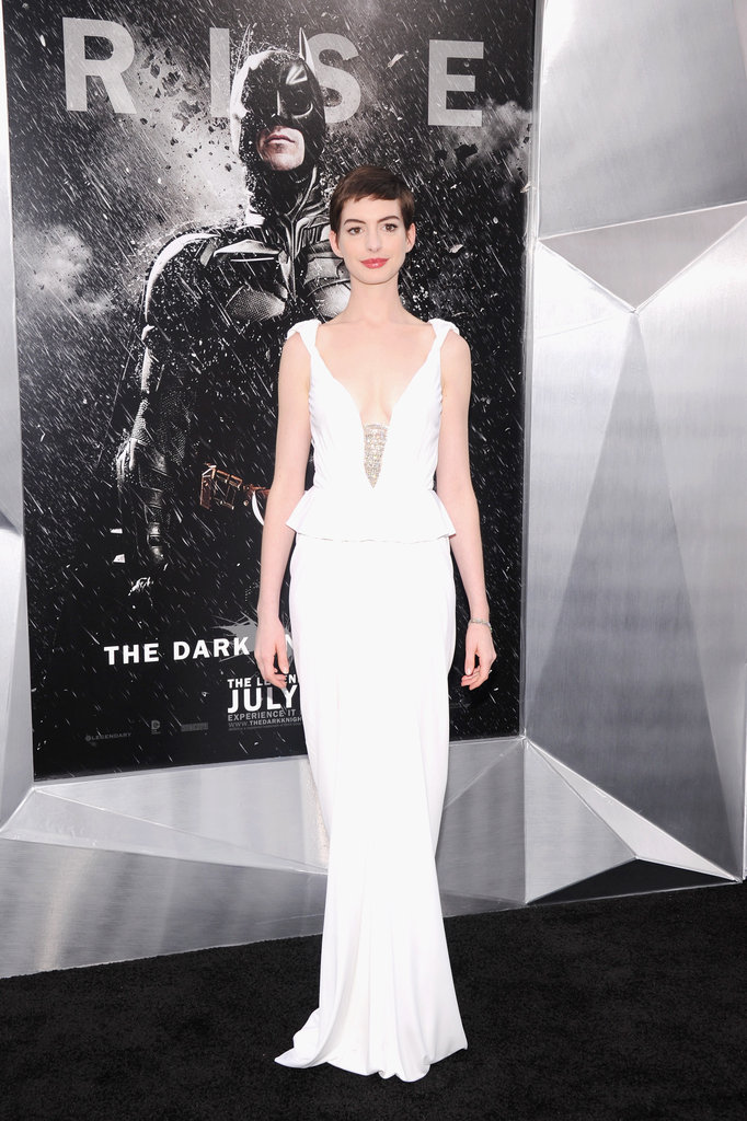 From the peplum-trimmed waist to the embellished neckline, Anne Hathaway's Prabal Gurung gown at The Dark Knight Rises NYC premiere was perfection.