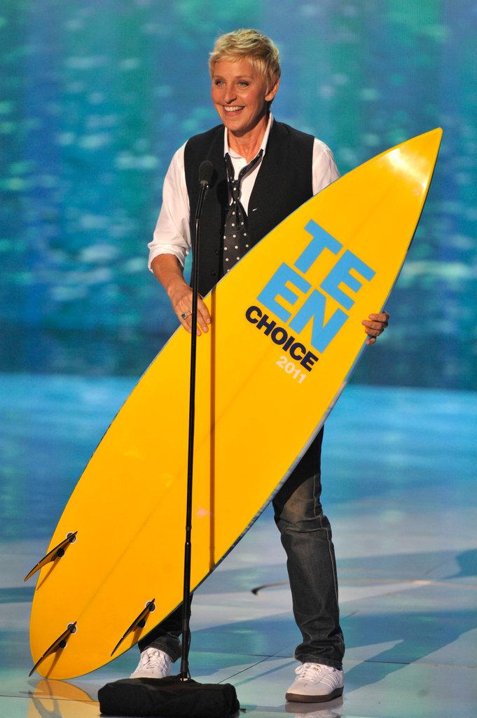 Ellen DeGeneres brought home a board in 2011.