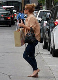 Lauren Conrad crossed a West Hollywood street while out shopping.