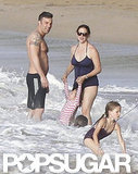 The Garner-Affleck family hit the beach in Puerto Rico.
