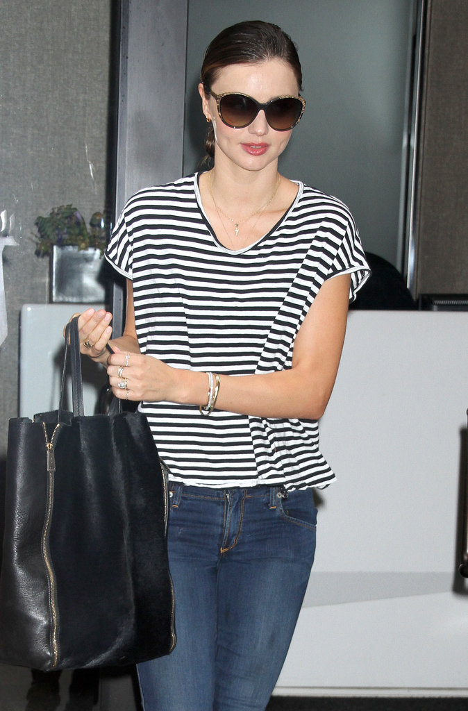 Miranda Kerr headed to work bright and early in NYC.