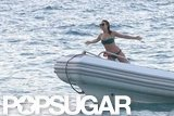 Julianne Hough wore a bikini to re-enact a Titanic moment in St. Barts during January 2012.