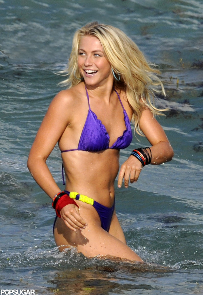 Julianne Hough wore a bikini to shoot Rock of Ages in Hollywood, FL, in May 2011.