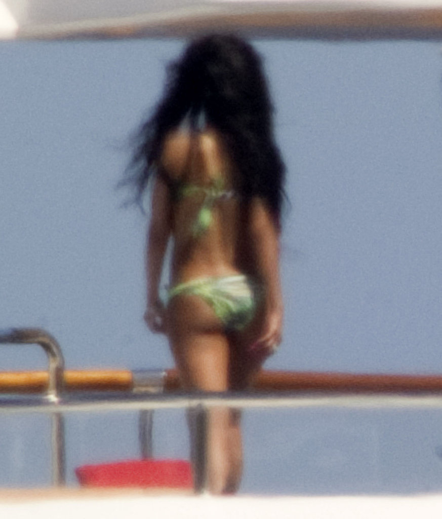 Rihanna Sports a Bikini on the Deck of an Italian Yacht