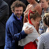 Michael Sheen Visits Rachel McAdams on Set Pictures