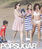 Jennifer Garner carried baby Samuel along the beach.