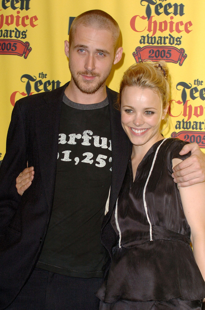 Ryan Gosling had his arm around Rachel McAdams at the 2005 Teen Choice Awards.