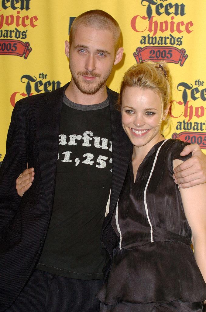 Ryan Gosling had his arm around Rachel McAdams at the 2005 Teen Choice Awards.