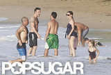 Ben Affleck and Jennifer Garner chatted with friends on vacation in Puerto Rico.