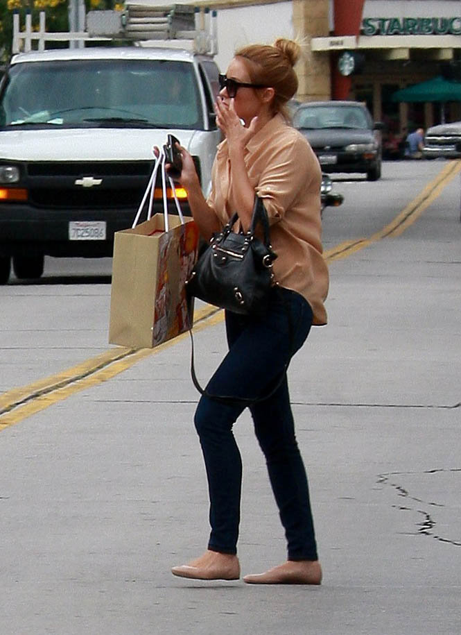 Lauren Conrad picked up some fancy footwear at the Christian Louboutin store in West Hollywood.