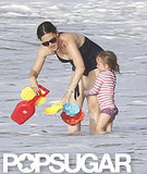 Seraphina Affleck held onto Jennifer Garner in the ocean in Puerto Rico.