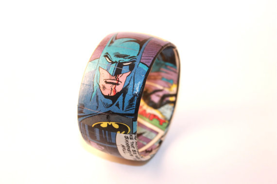 Batman Comic Book Bangle Bracelet ($28)