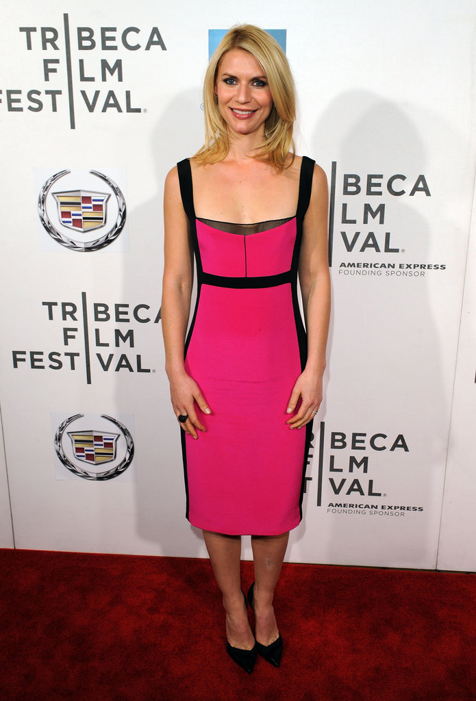 The Homeland actress wore her go-to designer — Narciso Rodriguez — to the premiere of Hysteria in April.