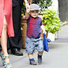 Miranda Kerr Pictures Holding Flynn Bloom's Hand Walking in NYC