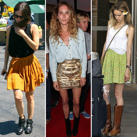 5 Celebrity-Approved Ways to Combine Your Skirts and Boots